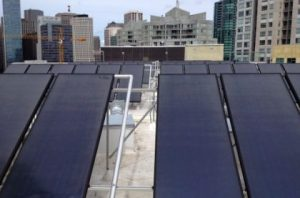 Harrison Street San Francisco, CA Thermal System Size 56 Collectors Solar Water Heating Equipment Heliodyne Gobi