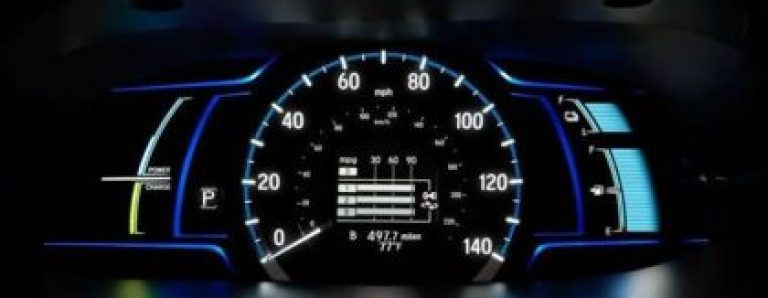 Honda Accord Plugin Hybrid dashboard gauge Honda accord plugin hybrid