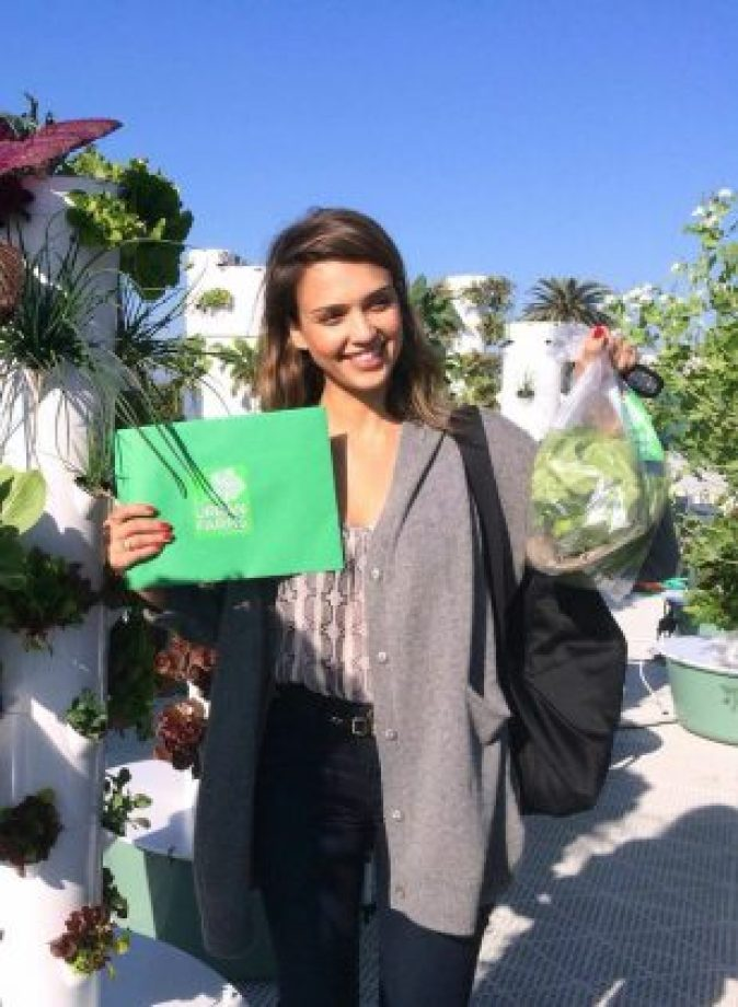 Jessica Alba at LA Urban Gardens