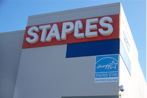 Staples stores use solar power too