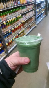 organic smoothie to green your insides