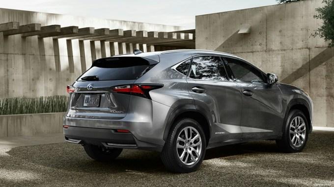 nebula gray pearl rear profile Lexus NX hybrid