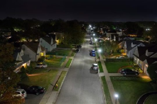 Typical street lighting now saves taxpayers and looks better. Going green!