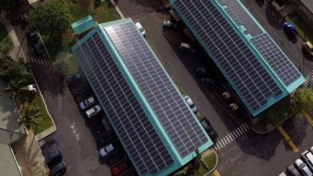 UH Maui College's new PV plus storage system will be capable of eliminating the campus' fossil fuel-based energy use when it is operational in 2019. On O'ahu, through the combination of solar shade canopies, distributed energy storage and energy efficiency measures, Leeward Community College, Honolulu Community College, Kapi'olani Community College and Windward Community College will reduce their use of fossil fuel for energy by 98 percent, 97 percent, 74 percent and 70 percent, respectively.