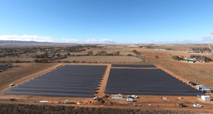 This renewable energy project recently built 2MW solar farm on 2.5 hectares near Port Pirie features 8000 solar panels.