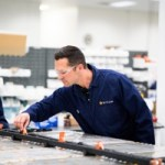 Building electric battery packs going into Rivian