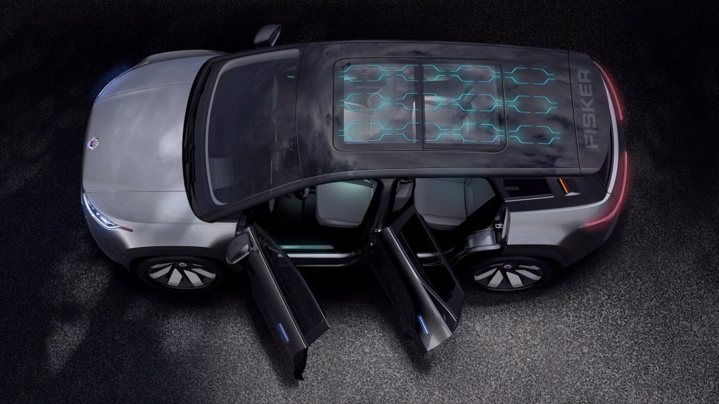 Fisker Ocean all electric SUV solar roof