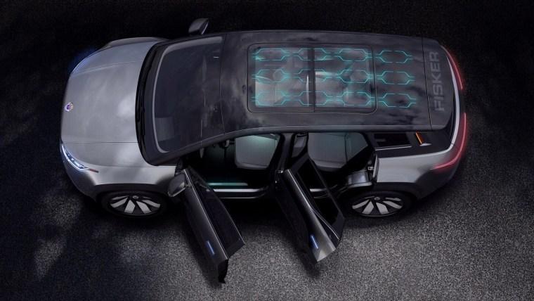 Fisker Ocean all electric SUV solar roof