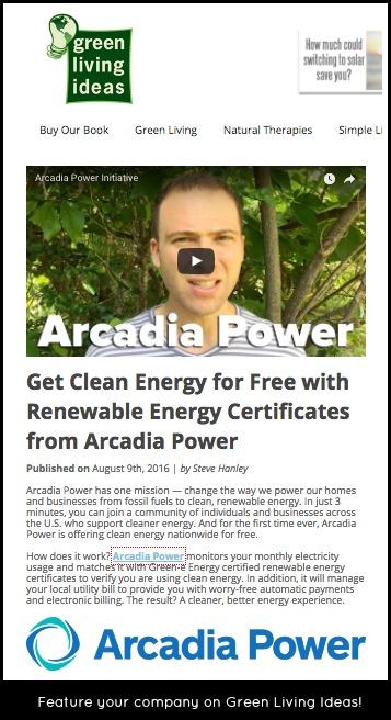green living ideas sponsored post