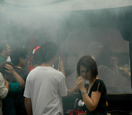 A different type of smoke, sacred smoke, in Japan