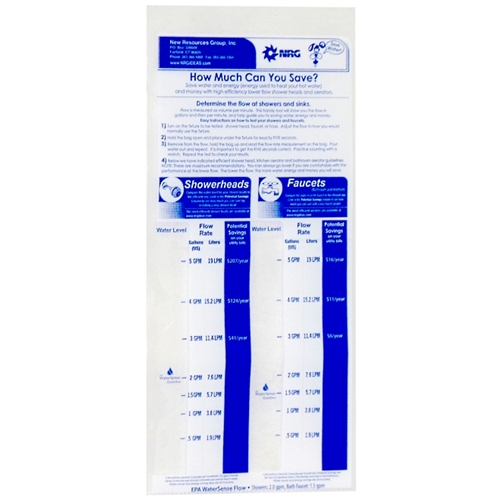 Flow rate bag