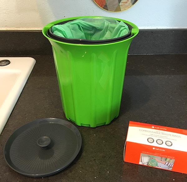 The folks at Full Circle sent me their BREEZE Odor-Free Countertop Compost Collector and compostable bags to try out, and I am in love.