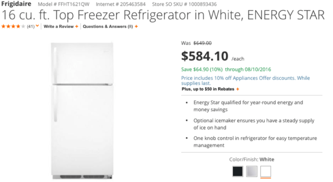 Payback Period for a Refrigerator