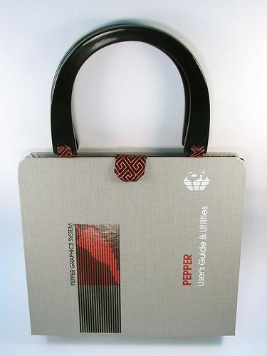 upcycled binder purse