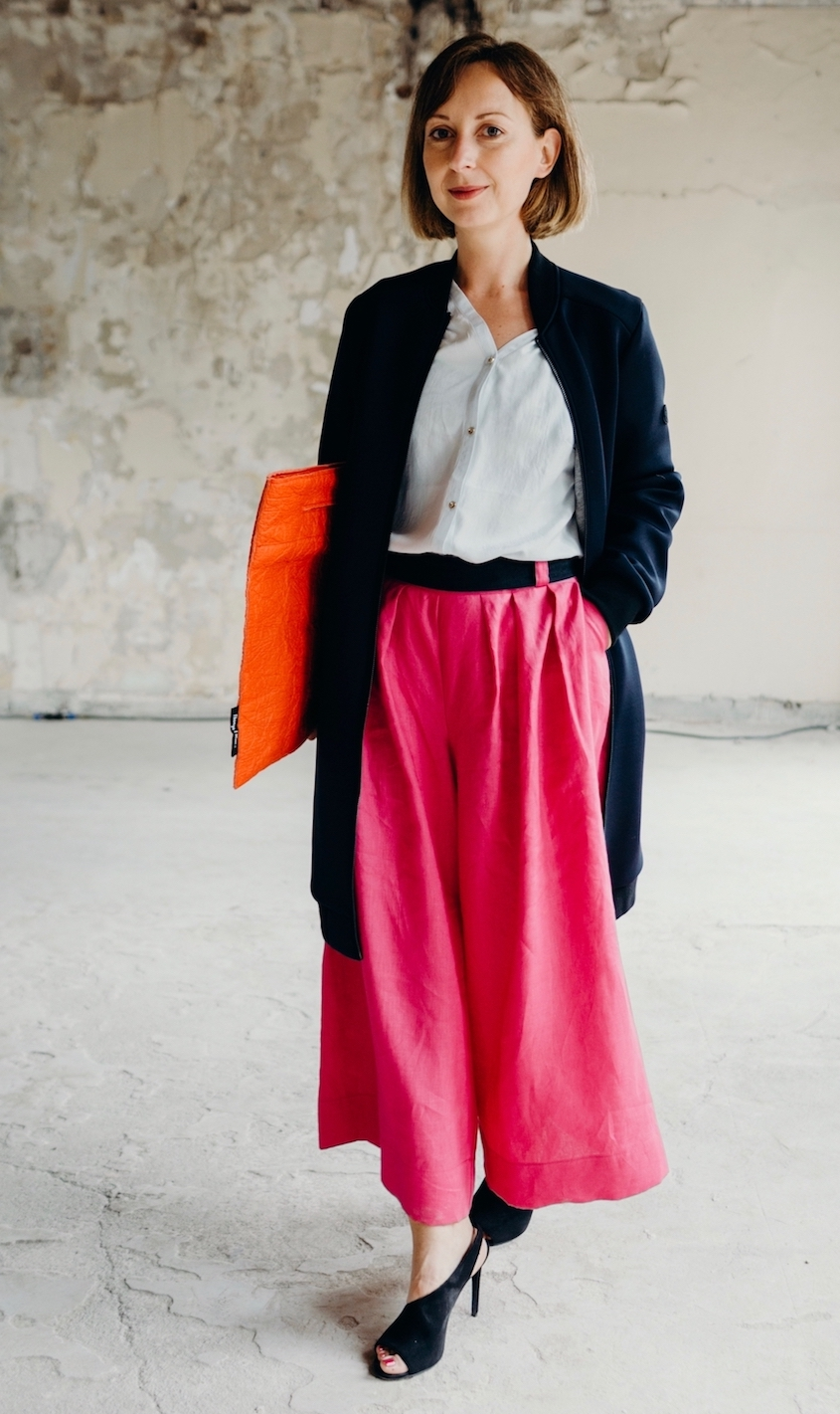 Ethical Fashion Week Pre-Peek SS2018: greenlooksgreat in einem Color-Blocking Look mit Culotte
