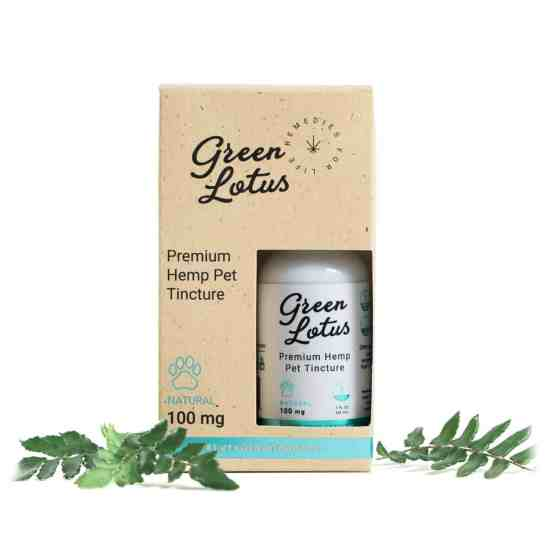 Green Lotus Hemp Tincture Pet 100mg CBD