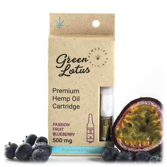 Green Lotus Hemp Vape Cartridge Passionfruit Blueberry CBD