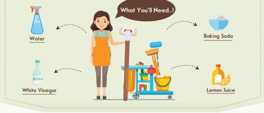 earth friendly house cleaning infographic