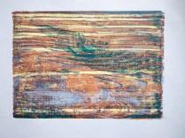 Woodcut using larch planking