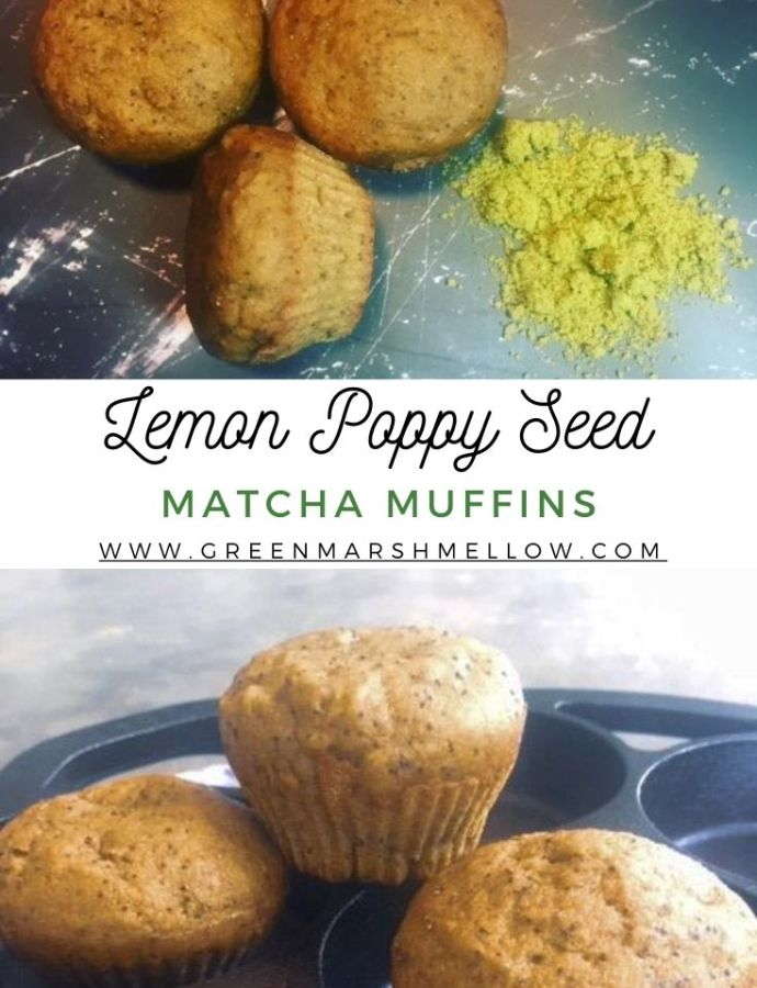 Vegan Matcha Lemon Poppy Seed Muffins Recipe
