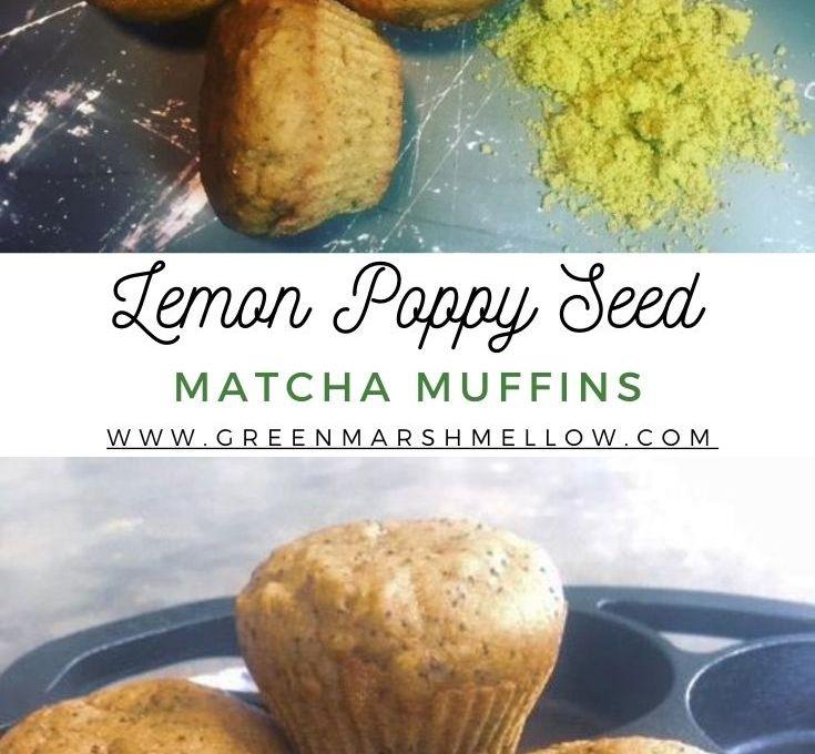 Vegan Matcha Lemon Poppy Seed Muffins Recipe