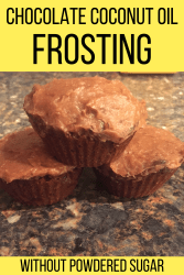 chocolate coconut oil frosting without powdered sugar