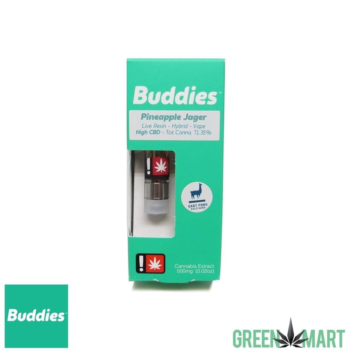 Buddies Brand  5g Live Resin Cartridge – Pineapple Jager