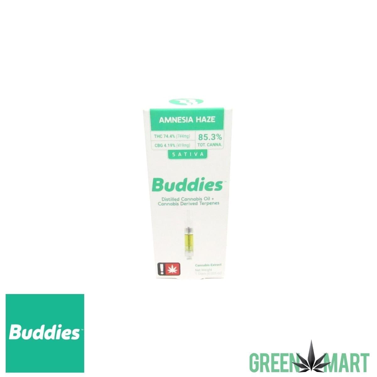 Buddies Brand Distillate Cartridge – Amnesia Haze