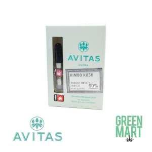 Avitas Ultra Kimbo Kush Half Gram Cartridge Front