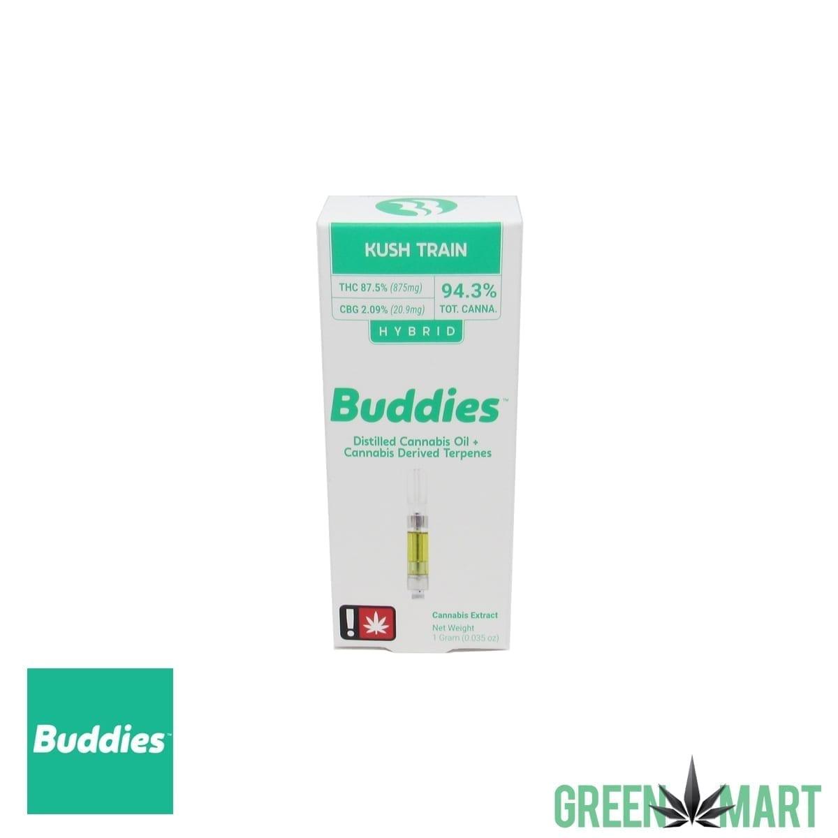 Buddies Brand Distillate Cartridge – Kush Train – Green Mart