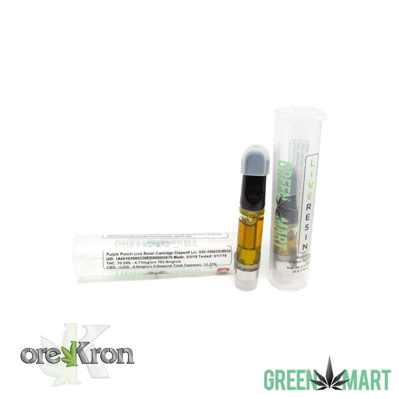 Green Mart Live Resin Cartridges - Purple Punch