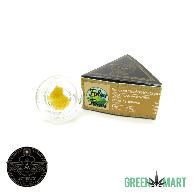 Artifact Extracts - Lemon OG Kush THCa Crystals