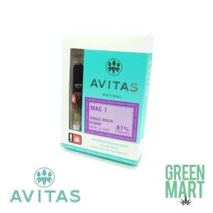 Avitas Natural Cartridges - Mac 1g