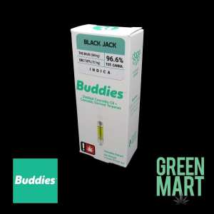 Buddies Brand Distillate Cartridge - Black Jack Front