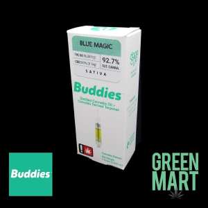 Buddies Distillate Cartridges - Blue Magic Front