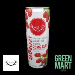 Wyld CBD Sparkling Water - Raspberry