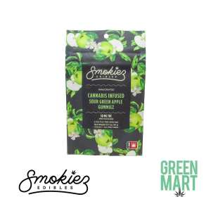 Smokiez Sour Green Apple Gummiez Front