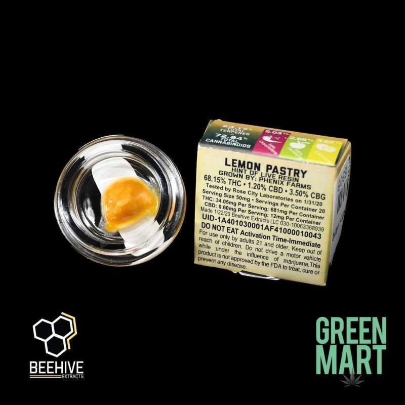 Beehive Extracts - Lemon Pastry Back