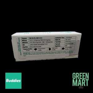 Buddies Brand Distillate Cartridges - Black Jack Half Gram Back
