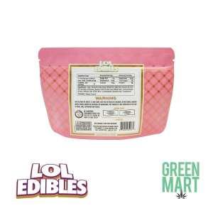 LOL Edibles Watermelon Sour Belts Back