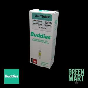 Buddies Brand Distillate Cartridge - Lightsaber Half