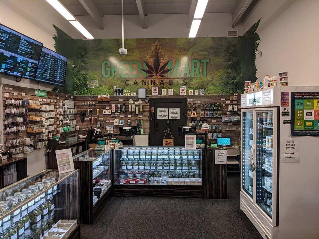 Green Mart Shop Back Wall