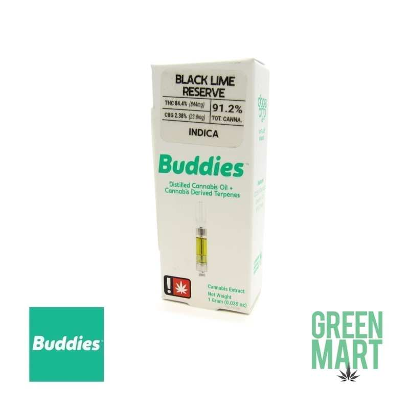 Buddies Brand Distillate Cartridge - Black Lime Reserve