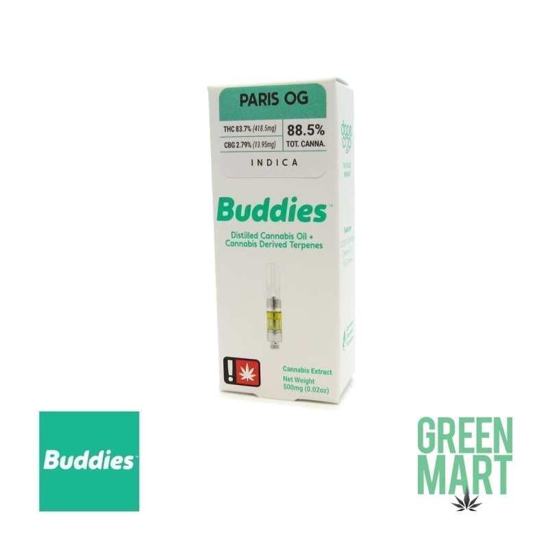 Buddies Brand Distillate Cartridge - Paris OG