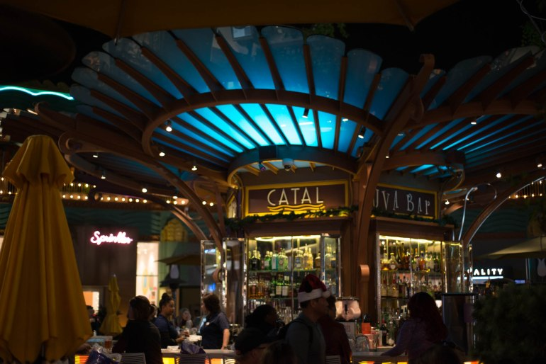 Bustling Uva Bar at Catal Restaurant in Downtown Disney - Nightlife at Disneyland