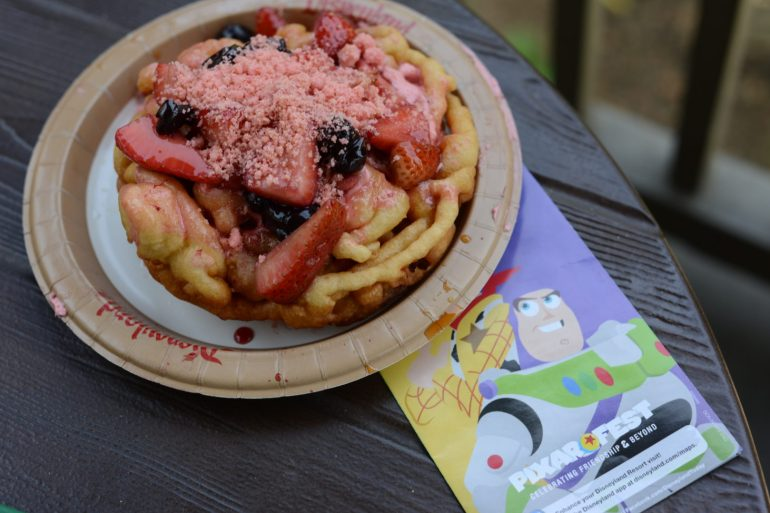 Hungry Bear Funnel Cake at Disneyland for Pixar Fest
