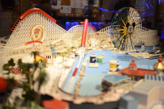 Pixar Pier Concept Model for Pixar Fest at Disneyland's California Adventure
