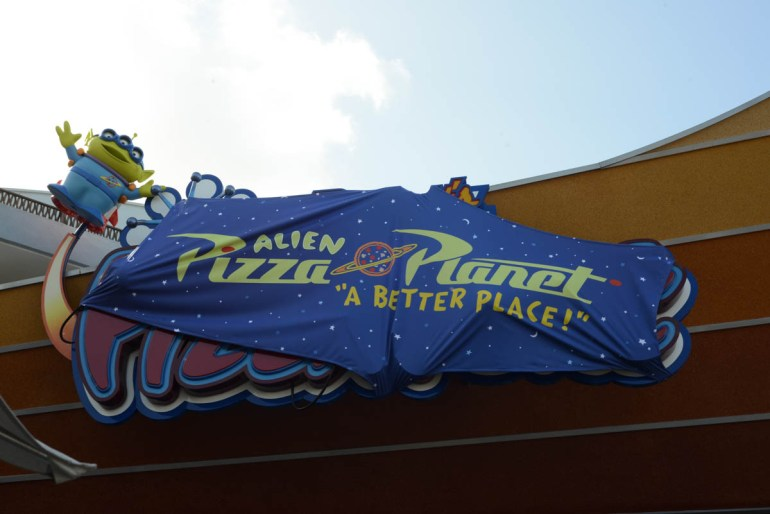 Pizza Planet at Disneyland for Pixar Fest