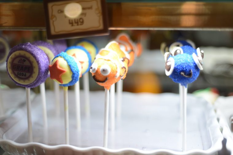 Pixar Cake Pops at Pixar Fest in Disneyland