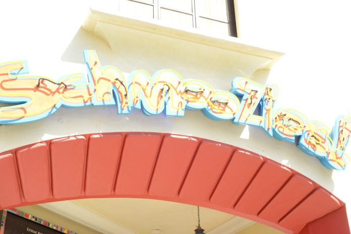 Schmoozie's Sign at Disneyland's California Adventure